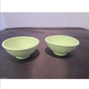 💙2/$15 Princess House Sili Pinch/Salt Bowls 2 NIP